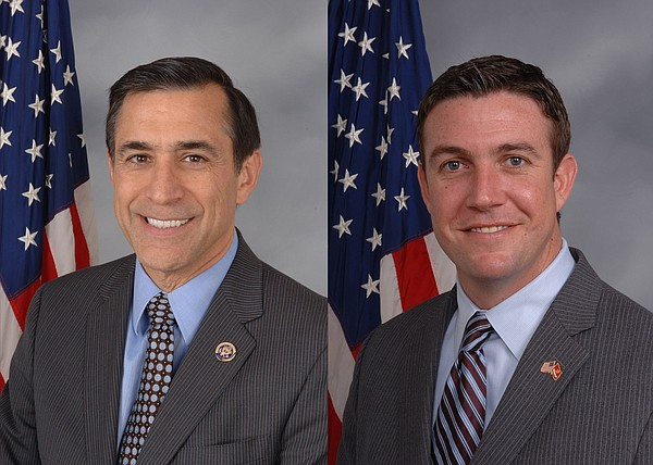 From left, Rep. Darrell Issa, R-Vista, and Rep. Duncan Hu...