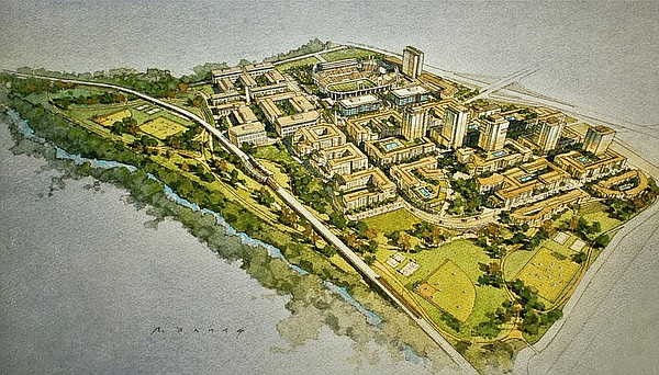 A rendering of the SDSU West plan to redevelop SDCCU Stad...