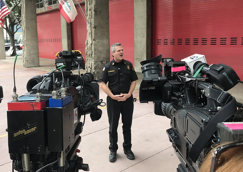 San Diego Fire-Rescue Chief Brian Fennessy announces his resignation after s...