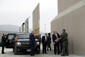 Photo for Border Agency Spokesman Says Wall Prototypes Didn't Need Tunnel Tests