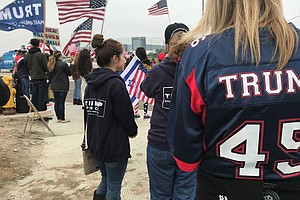 Trump Boosters Rally Near The Border For President's Firs...