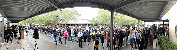 Patrick Henry High School students gather for #NationalWa...