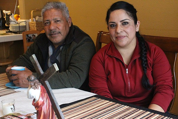 Nancy Gonzalez and her father, Jose, meet at her home in ...