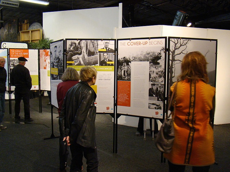 People visit the My Lai Exhibit in San Diego in this undated photo.