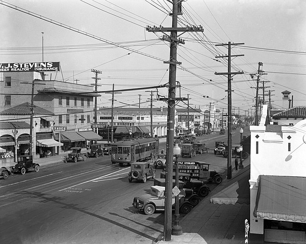 San Diego's North Park at University Ave. & 30th St. in 1928