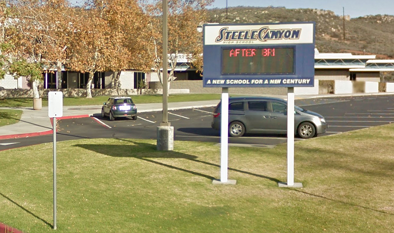 Steele Canyon High School in Spring Valley is shown in this undated photo.