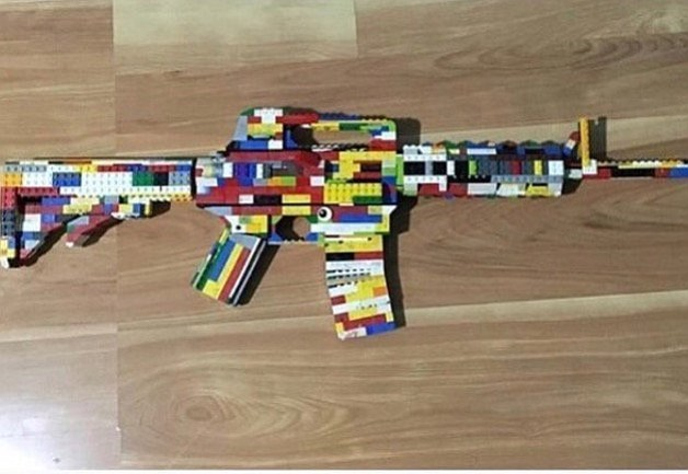 A picture of a Lego toy rifle used in a threatening social media post about W...