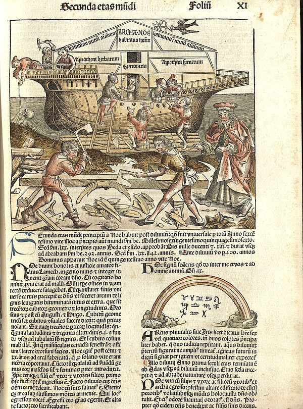A page from the Nuremberg Chronicle by Hartmann Schedel, ...