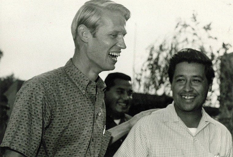 LeRoy Chatfield pictured with Cesar Chavez outside the Tulare County jail in ...