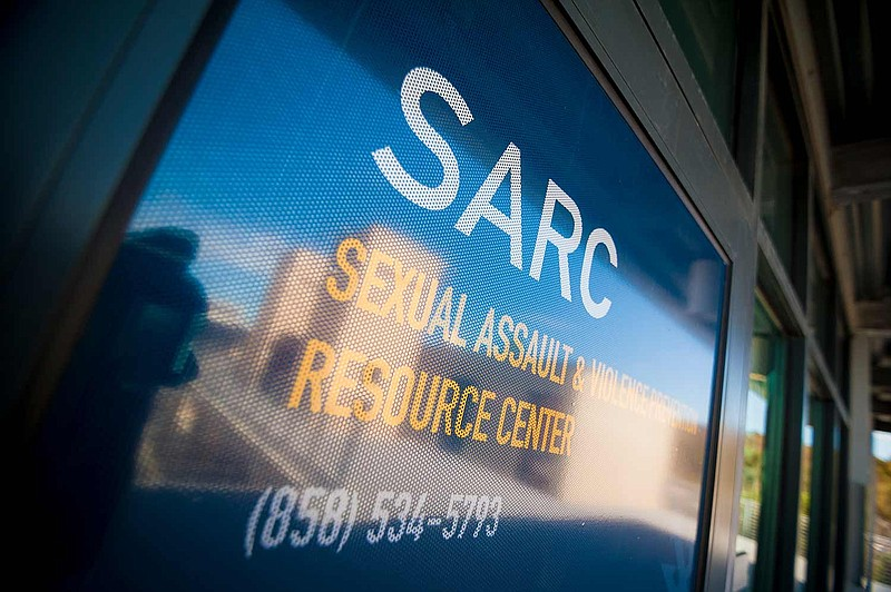 The front door of UC San Diego's Sexual Assault Resource Center is shown in t...