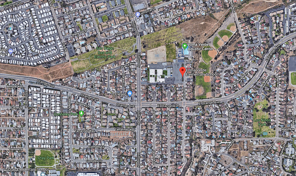 Loma Verde Elementary in Chula Vista is shown on this map...