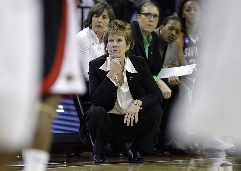 San Diego State coach Beth Burns during an NCAA first-round college basketbal...