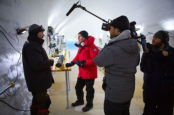 Jason Sussberg, Bill Nye, and David Alvarado in Greenland.