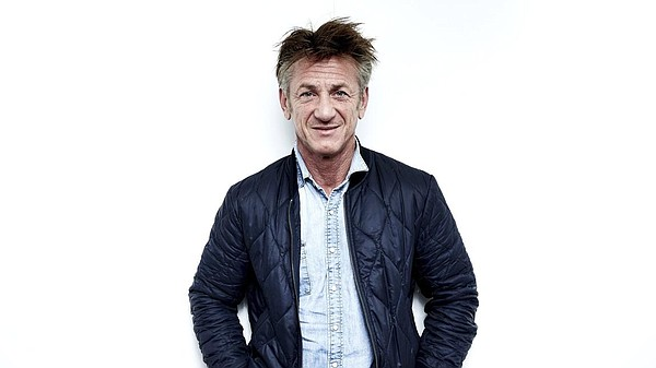A promotional photo of actor and author Sean Penn.