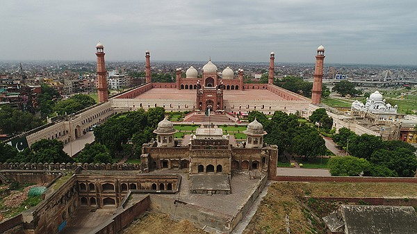 Walled City of Lahore, Pakistan, rebuilt by Emperor Akbar...
