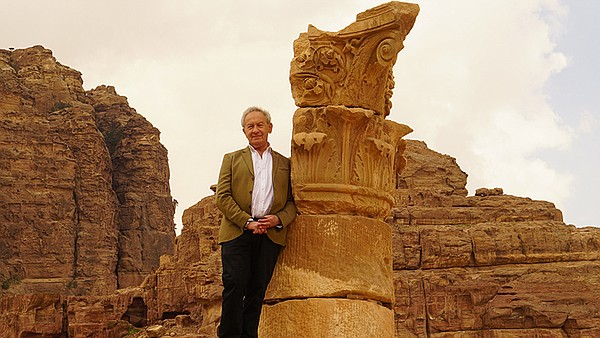 Presenter Simon Schama in Petra, Jordan.