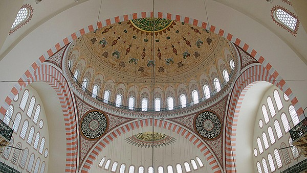 Dome inside the Suleymaniye Mosque (1550-1557) Sponsored ...