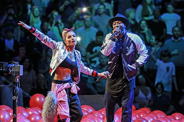 Pia Mia with will.i.am in concert at Royal Albert Hall.