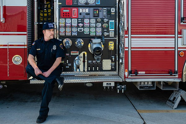 Jeremy Forte, pictured at fire station No. 14 in Imperial...
