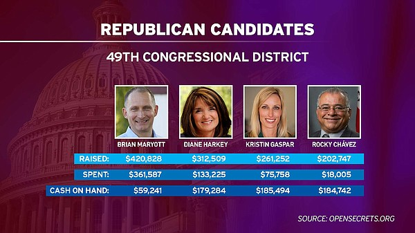 The leading Republican candidates for the 49th Congressio...