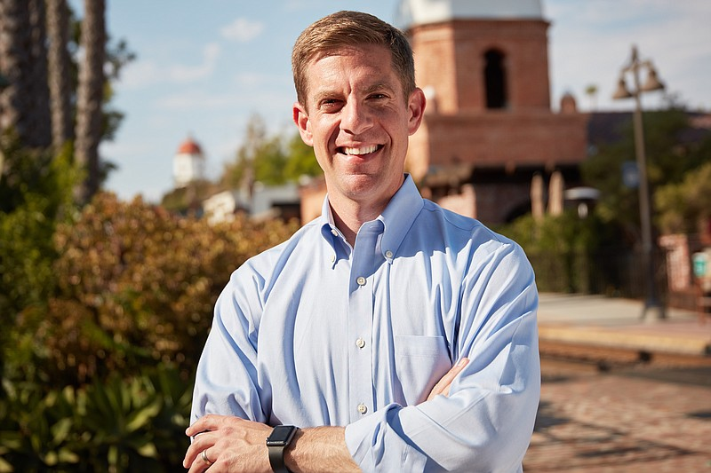 Democrat Mike Levin, a candidate in the 49th Congressional District race in a...