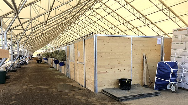Some of the new stables built at the San Luis Rey Trainin...
