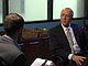 Former Poway Unified School District Superintendent John Collins is interview...
