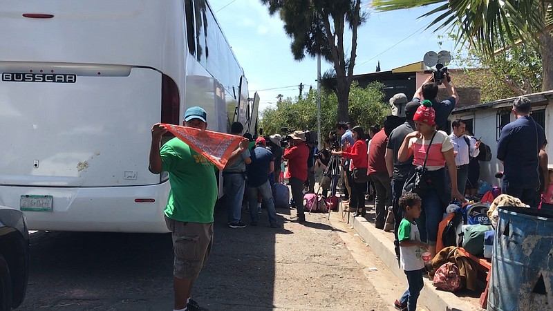 Asylum-seekers to the U.S. from Central America arrive in Tijuana, April 24,