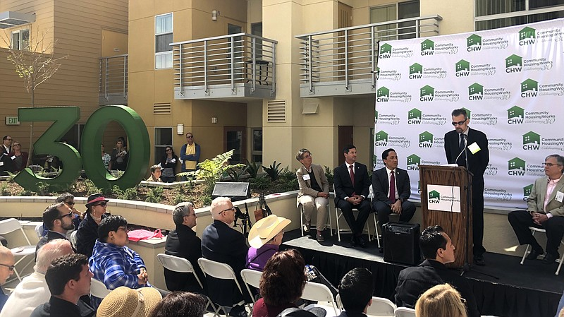 Developers, politicians and residents from North Park Senior Apartments held ...