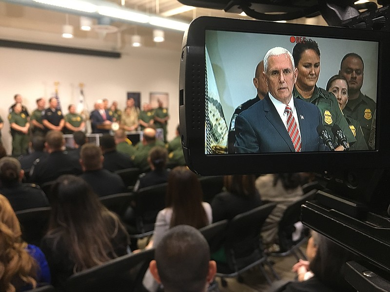 Vice President Mike Pence speaks to Department of Homeland Security and Borde...