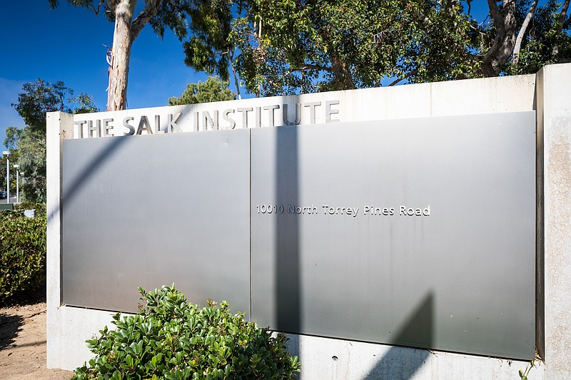 A sign at the Salk Institute in La Jolla is shown in this undated photo.