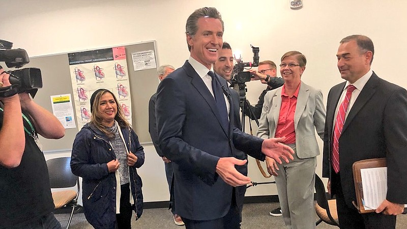 California Lieutenant Governor Gavin Newsom met with students and community m...