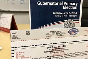 Mail Ballots For June Primary Are On The Way To San Diego...