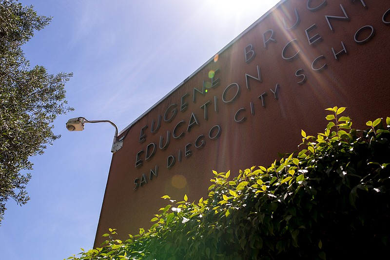 The outside of the San Diego Unified School District Education Center is show...
