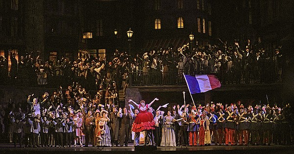 """A scene from Act II of Puccini's """"La Bohème."""""""