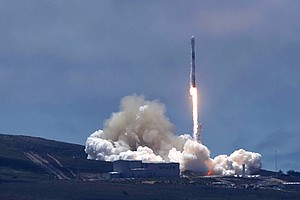 Space X Launches Science And Commercial Satellites Into O...