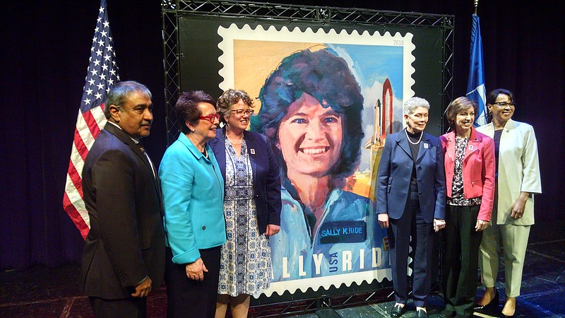 The U.S. Postal Service held a ceremony at UC San Diego where they unveiled a...