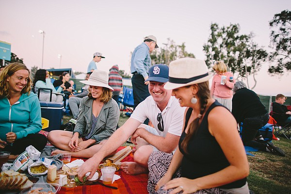 People have a picnic at San Diego Symphony's Bayside Summ...