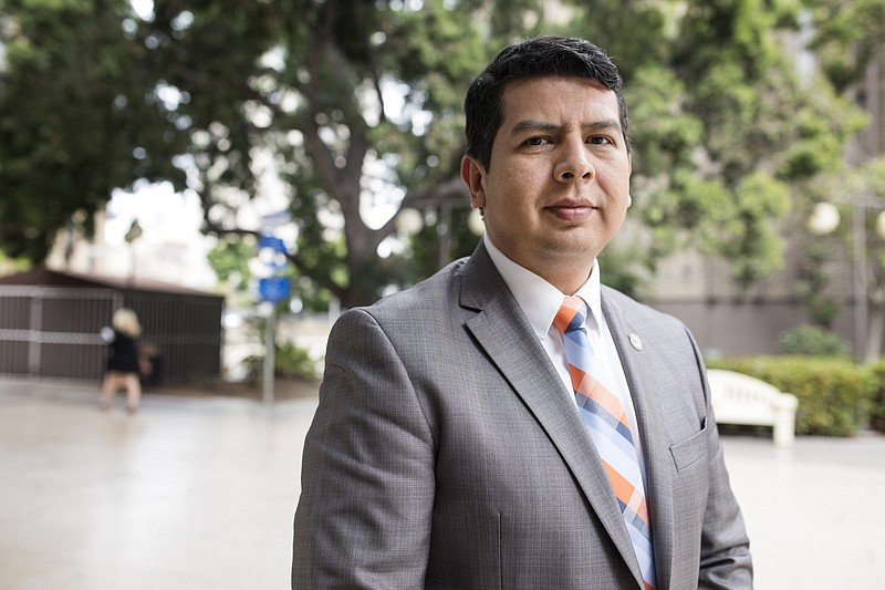 San Diego Councilman David Alvarez is shown in this photo, May 23, 2018.