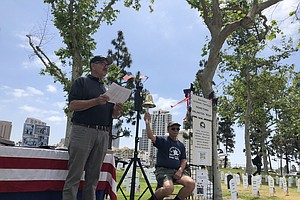 San Diego Peace Protest Memorializes The Cost Of War