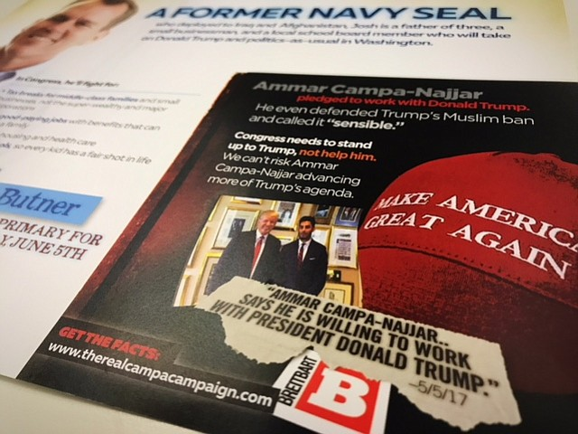Mailer sent to residents who live in California's 50th congressional district...