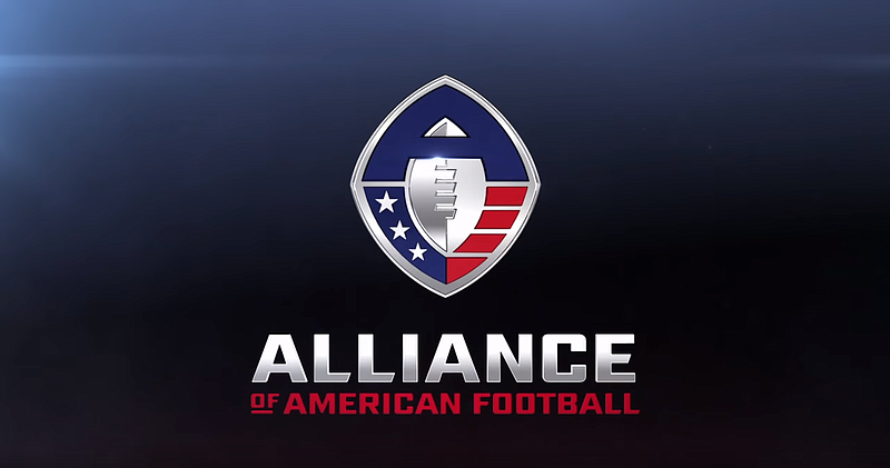 667bbb07b53 The Alliance of American Football logo is shown in this undated screengrab.