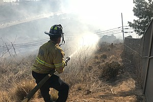 Brush Fire Closes I-8 Freeway Near SDSU