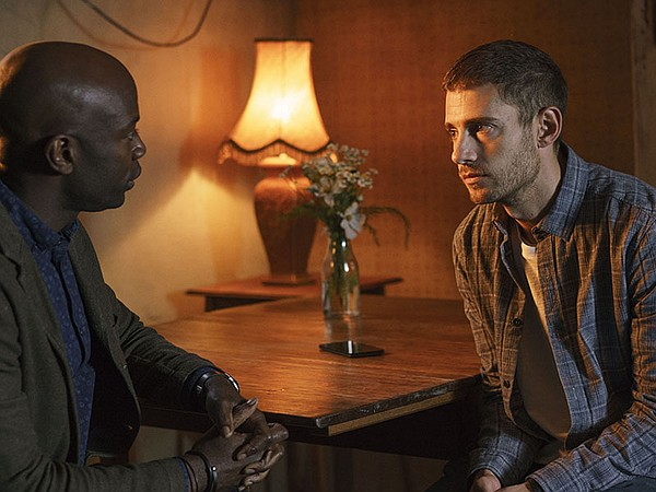 Shown from left to right: David Gyasi as Steve Julian Mor...