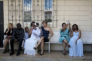 Photo for In Mexico's Border City, Haitians Hailed As Success Story