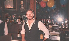 Gary Burrows, c. 1980s. Bartender at #1 Fifth A...