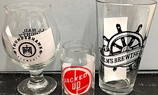 "This glassware from the ""Brewchive"" is a sample..."