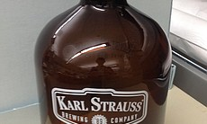 A Karl Strauss growler from the brewery's more ...