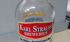 A Karl Strauss growler from the brewery's earli...