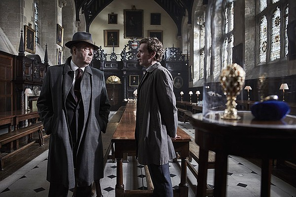 Shown from left to right: ROGER ALLAM as Detective Chief ...